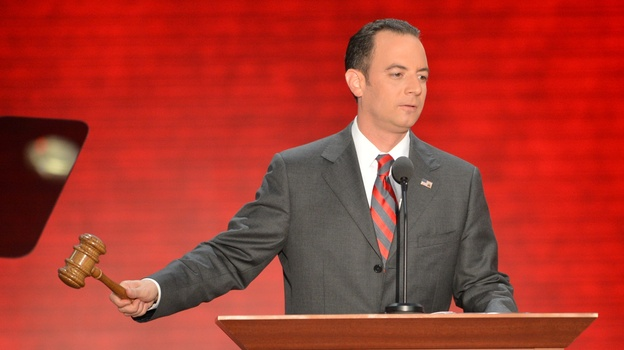 "Reince Priebus, shown at the Republican National Convention in August, says Republicans need to ""grow our party without compromising our principles."" (AFP/Getty Images)"