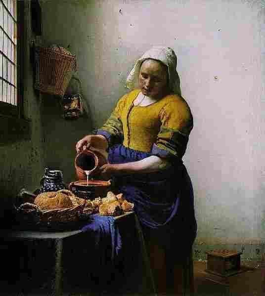 The Milkmaid (Johannes Vermeer, circa 1658)