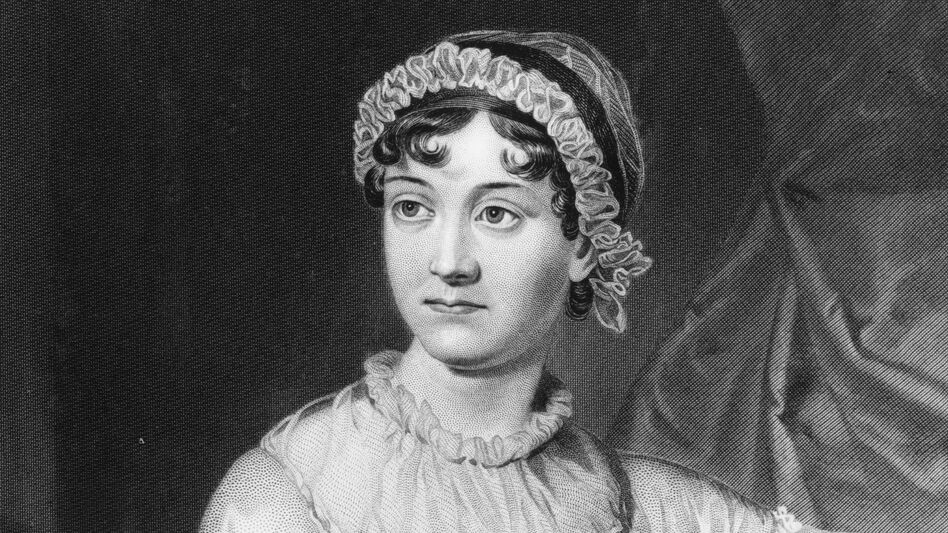 English novelist Jane Austen, shown here in an original family portrait, was born in December 1775. (Hulton Archive/Getty Images)
