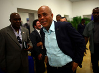 Haitian President Michel Martelly, also known by his stage name