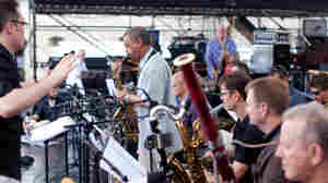 Ryan Truesdell conducts the Gil Evans Centennial Project at Newport.