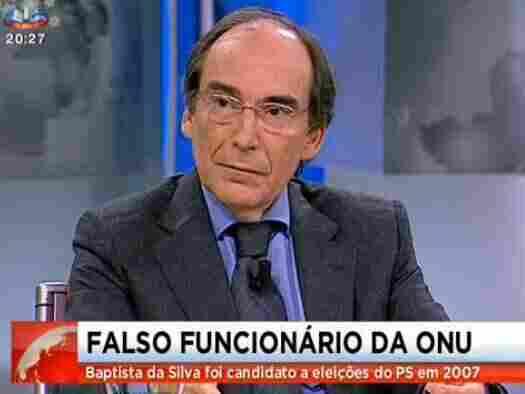 Artur Baptista da Silva, on Portuguese TV