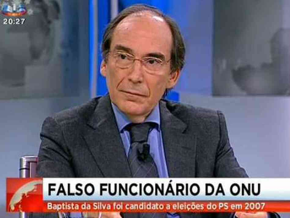 Artur Baptista da Silva, on Portuguese TV