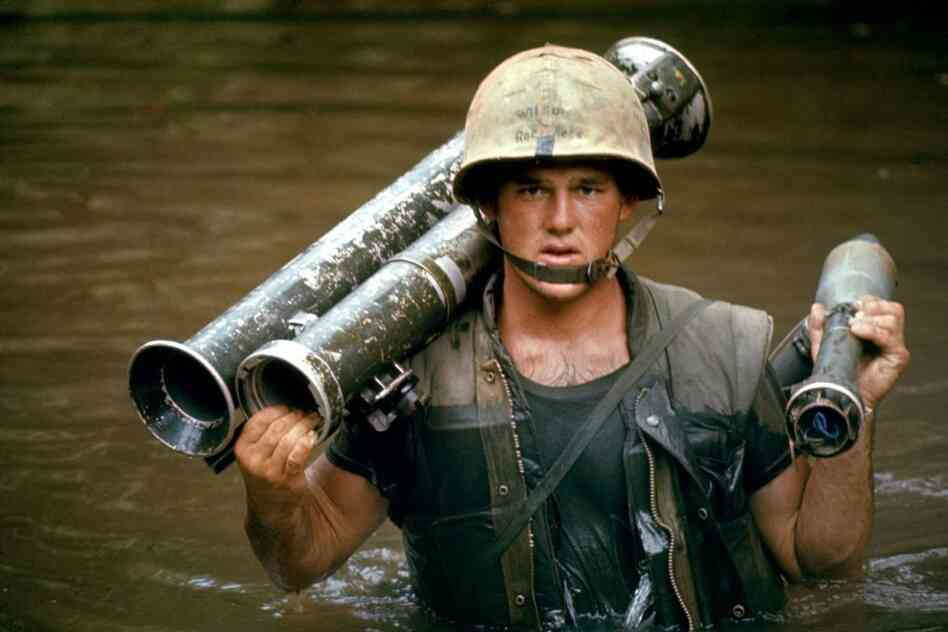 A U.S. Marine in Vietnam, October 1966.
