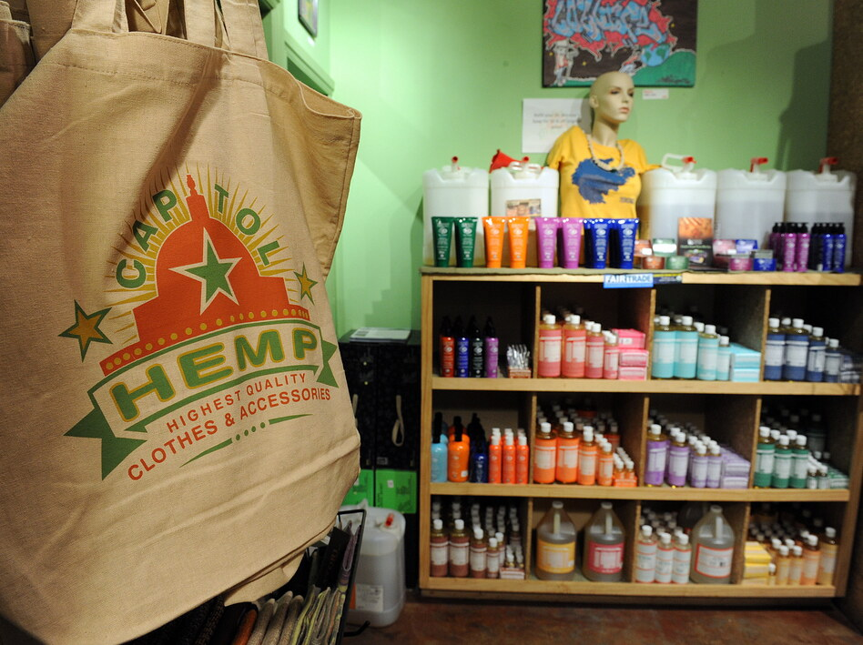 Hemp products for sale in Washington, D.C., in 2010. The U.S. is the world's largest consumer of hemp products, although growing hemp is illegal under federal law. Colorado recently passed a measure that legalizes growing hemp.