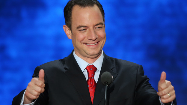 RNC Chairman Reince Priebus, shown at the Republican National Convention in August, has been re-elected to another two-year term. (Getty Images)