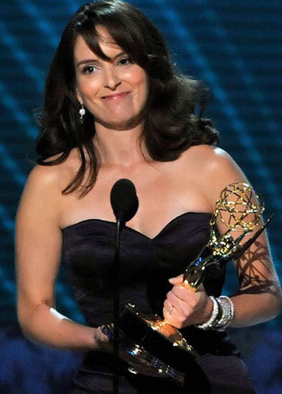 Tina Fey won an Emmy Award for outstanding lead actress in a comedy series for her role as Liz Lemon on <em>30 Rock</em>.