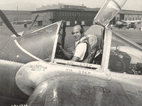 Van Heusen in his second life as a World War II-era test pilot.