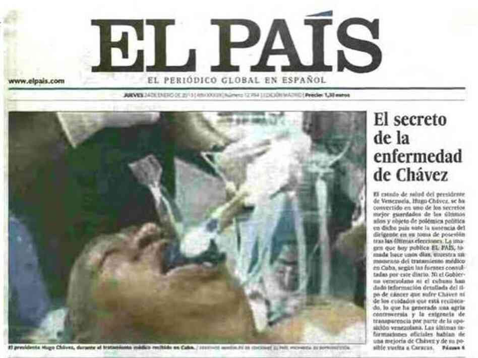 That's not Venezuelan President Hugo Chavez, El Pais later admitted.