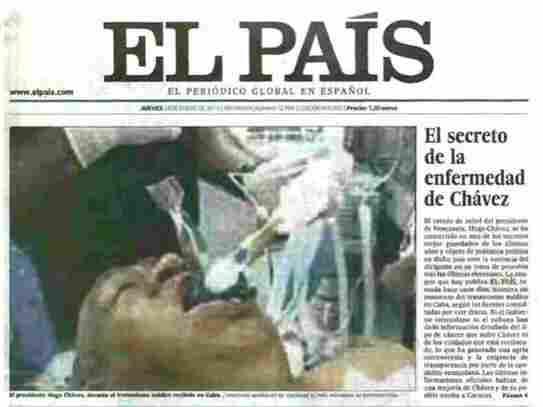 That's not Venezuelan President Hugo Chavez, El Pais later admitted.