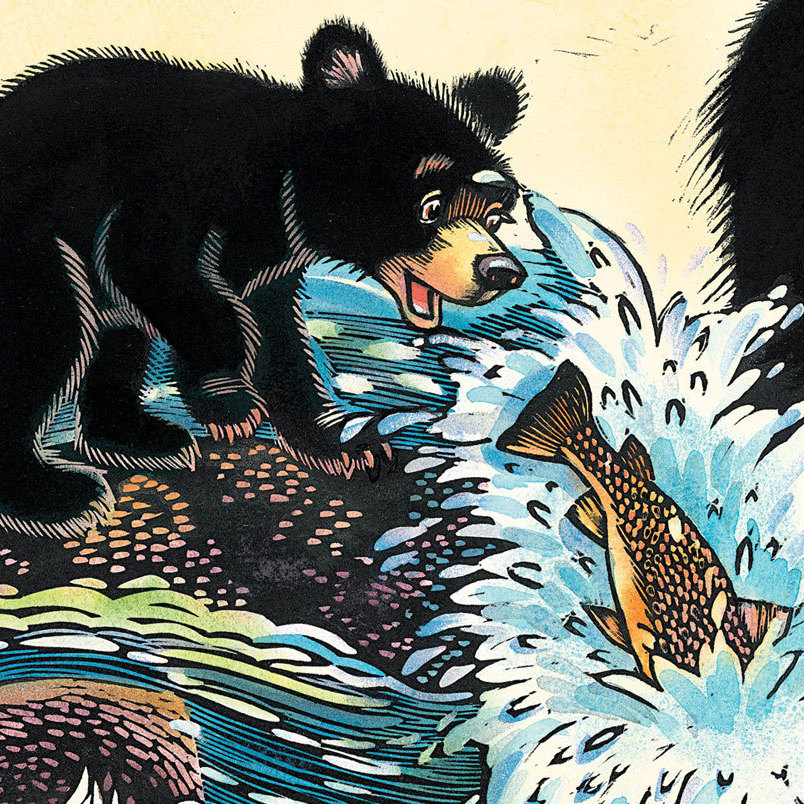 Baby Bear Sees Blue was written and illustrated by Ashley Wolff.