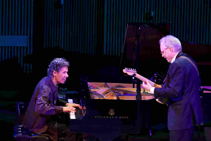 Chick Corea (piano) duets with Bill Frisell (guitar) for the first time.