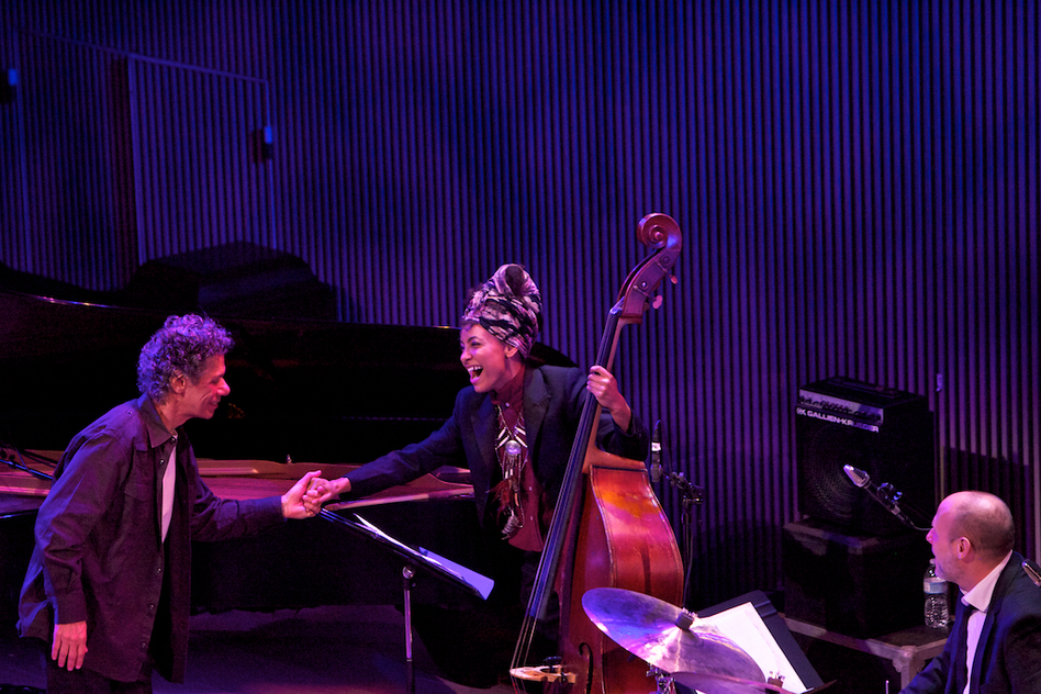 "Chick Corea paid tribute to Bill Evans with his version of ""Alice In Wonderland,"" with Esperanza Spalding on bass and Jeff Ballard on drums. (Courtesy of SFJAZZ)"