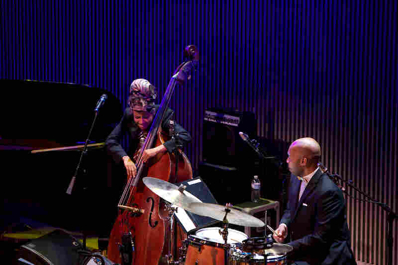 "Accompanied by drummer Eric Harland, Esperanza Spalding essayed her take on ""Look No Further."""