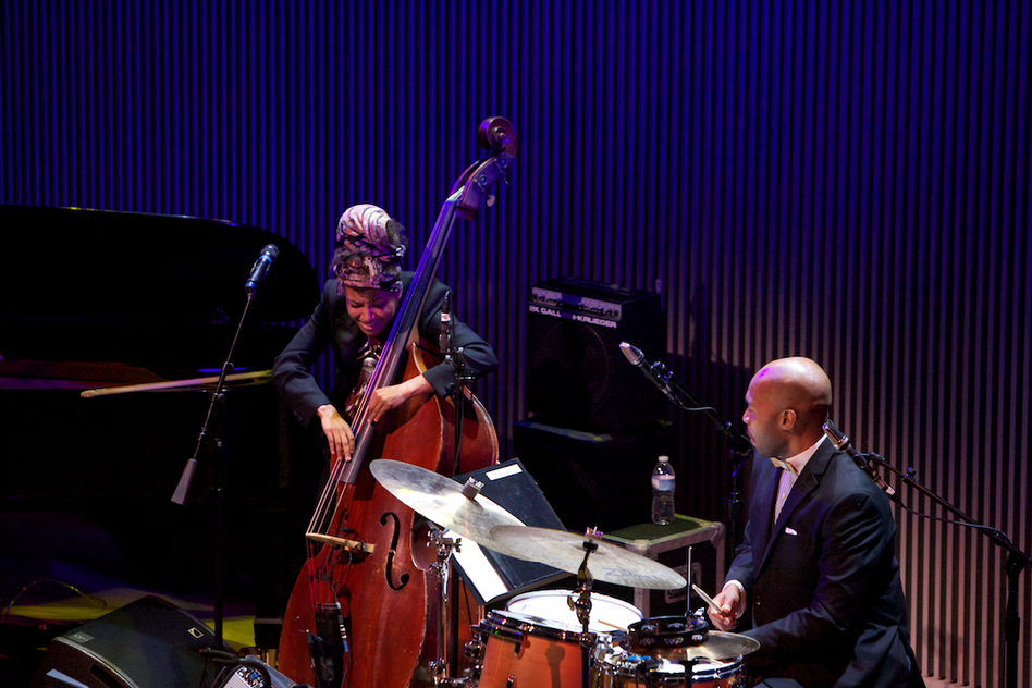 "Accompanied by drummer Eric Harland, Esperanza Spalding essayed her take on ""Look No Further."" (Courtesy of SFJAZZ)"