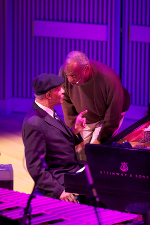 Emcee Bill Cosby paid reverence to the legendary pianist McCoy Tyner.