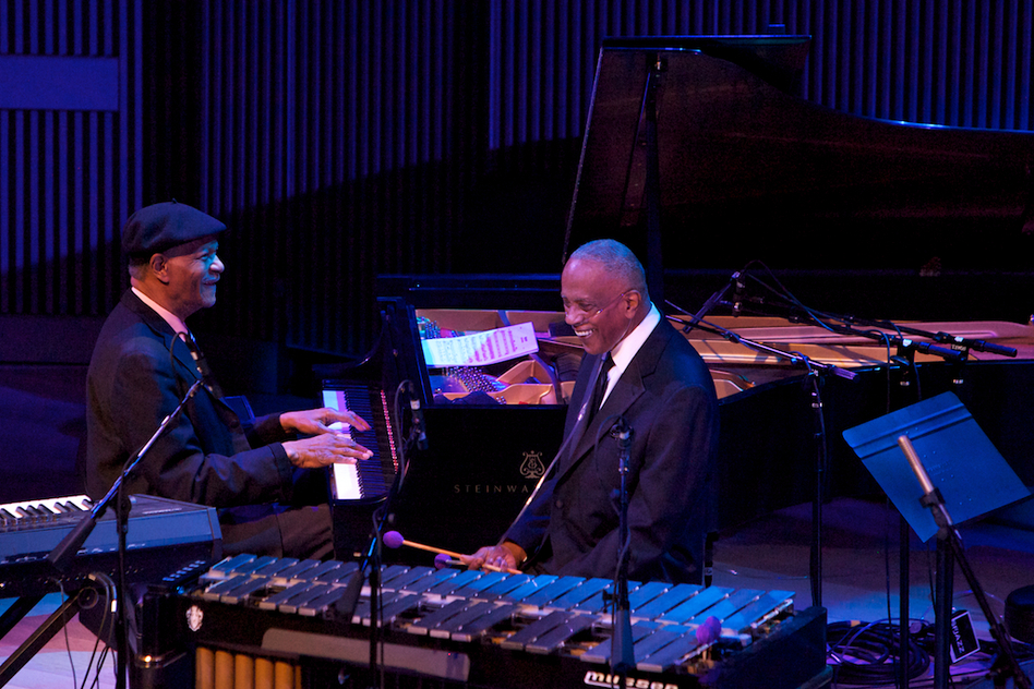 McCoy Tyner was reunited with his old friend, vibraphonist Bobby Hutcherson. (Courtesy of SFJAZZ)