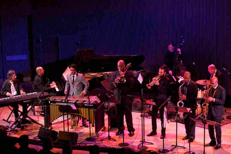 """Chick Corea (keyboard) joined the SFJAZZ Collective for the closing performance, an arrangement of his piece """"Spain."""""""