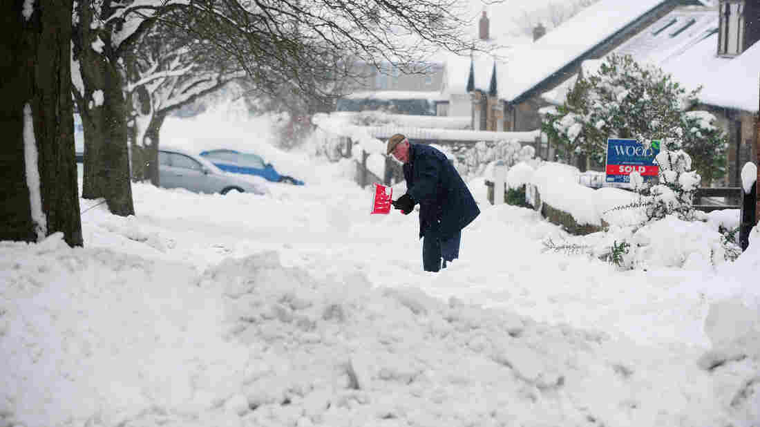 There was plenty to shovel early Friday in Durham, Pa. More winter weather is on the way for much of the nation.