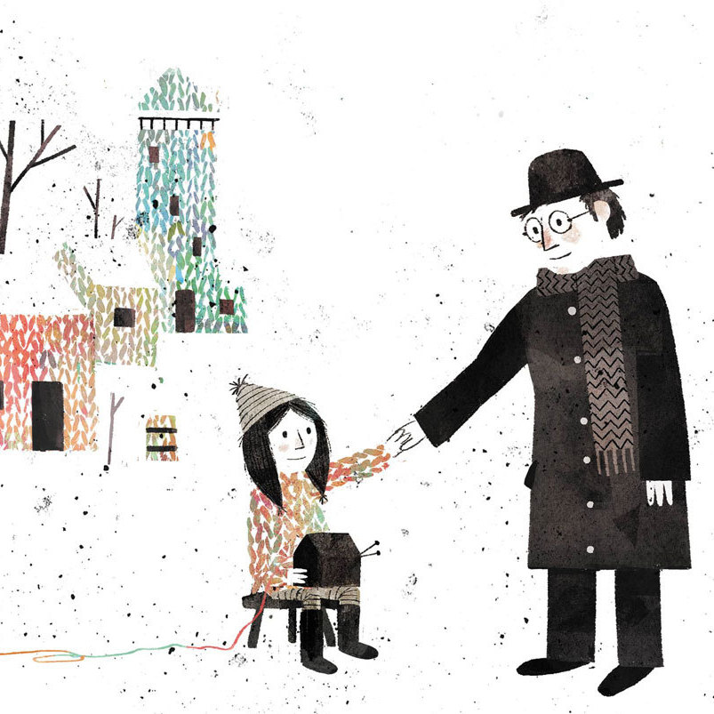 Jon Klassen illustrated Mac Barnett's Extra Yarn.