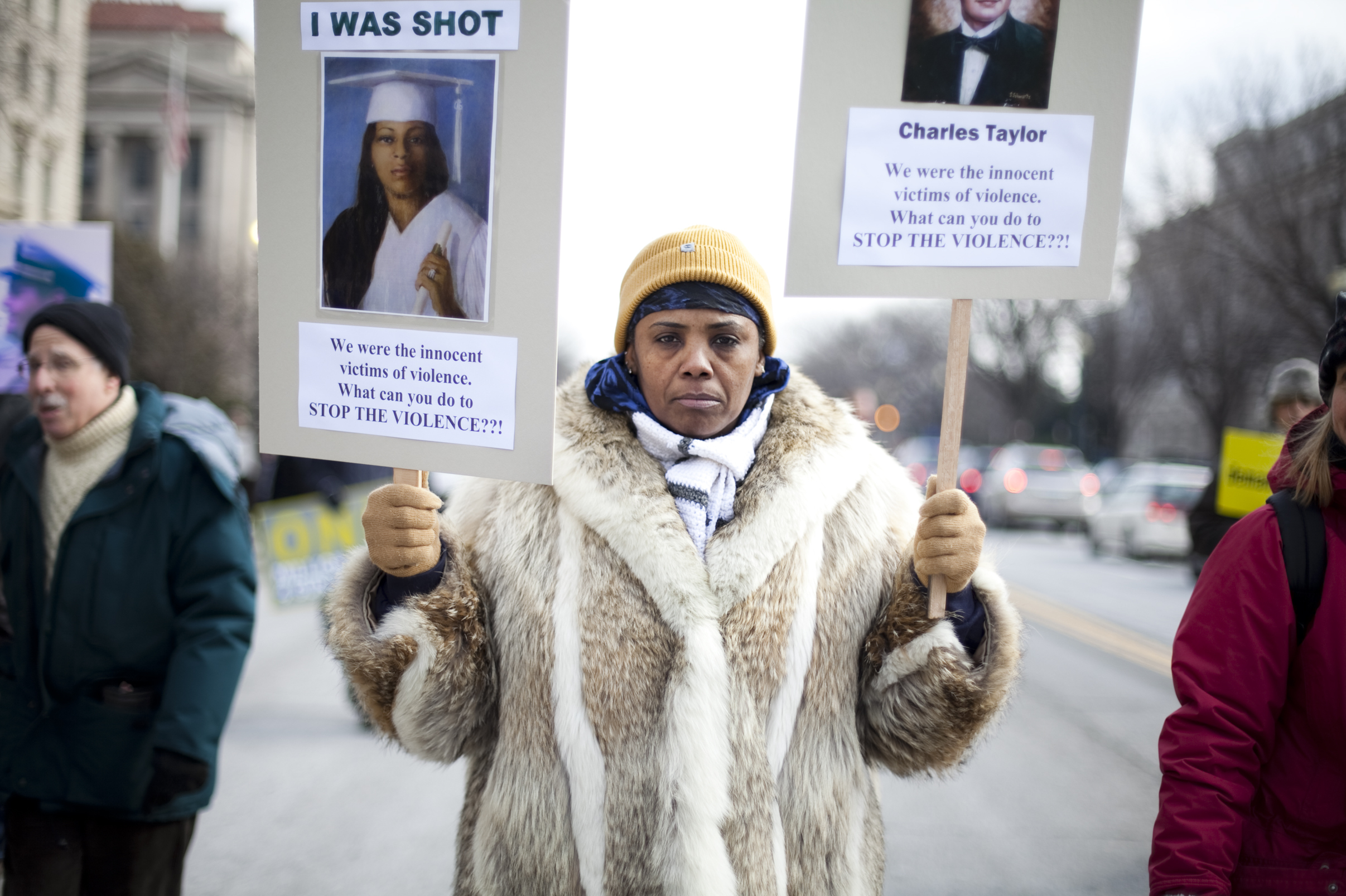 Movita Johnson-Harrell from Philadelphia marched down Constitution Ave. as part of the rally. Movita lost her 18-year-old son, Charles Johnson, to gun violence in 2011.