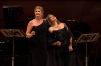 Between sets the two divas told stories — often humorous — of the composers of La Belle Époque, the