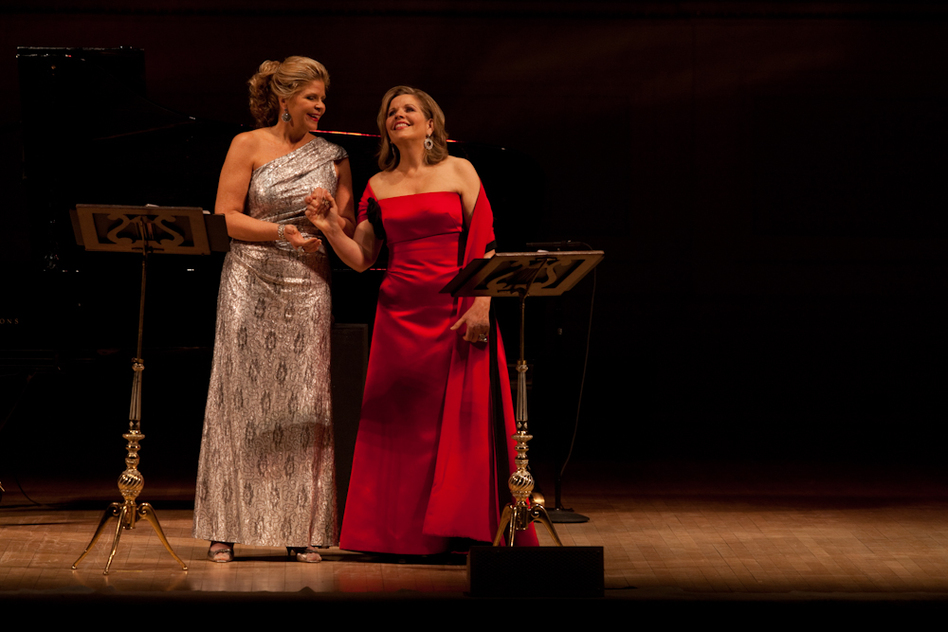 "Graham and Fleming ended the evening with two gorgeous — and popular — opera duets: the ""Barcarolle"" from Offenbach's The Tales of Hoffman, and a rapturous rendition of the ""Flower Duet"" from Delibes' Lakmé, made famous in the British Airways TV commercial. (NPR)"