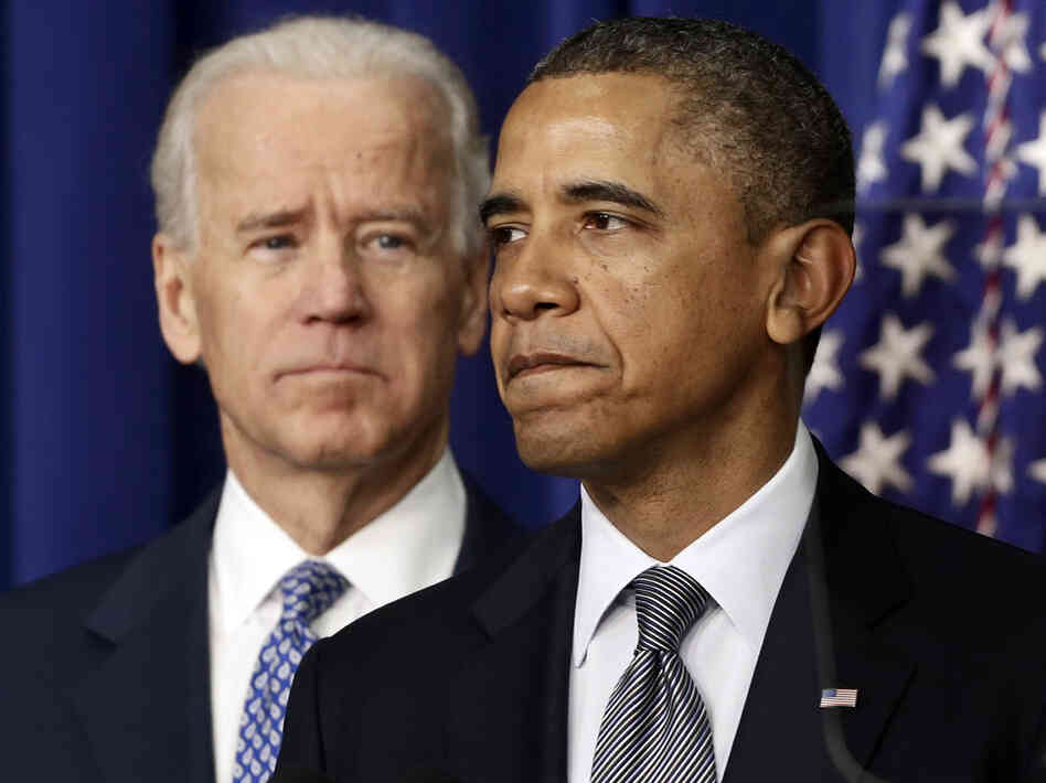 President Obama, accompanied by Vice President Joe Biden, talks at the White House on Jan. 16 about proposals to reduce gun violence. Obama has called for a ban on military-style assault weapons and high-capacity ammunition magazines and is pushing ot