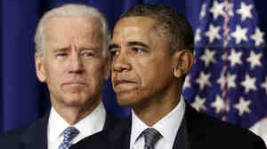 President Obama, accompanied by Vice President Joe Biden, talks at the White House on Jan. 16 about proposals to reduce gun violence. Obama has called for a ban on military-style assault weapons and hi