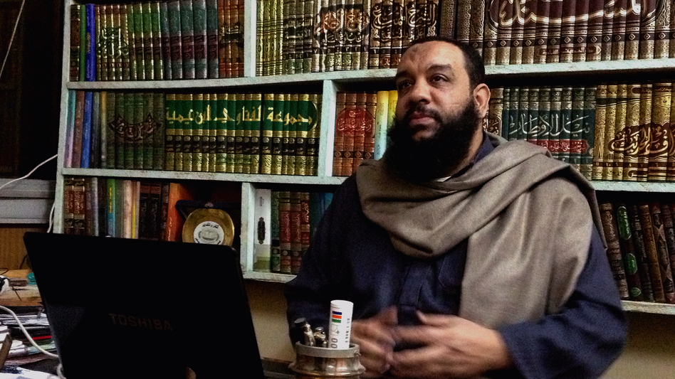 Sheikh Gamal Saber, founder of a Salafi party called Ansar, is banding with other Salafi groups behind a hardline agenda that would ban alcohol, segregate the sexes and require women to wear veils. (NPR)