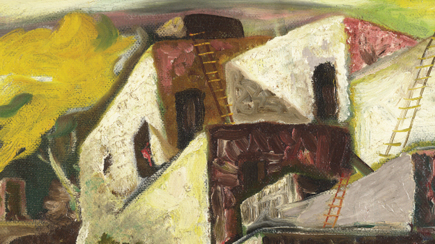 The cover of House of Earth is an oil painting that Guthrie made in 1936 called In El Rancho Grande. (Courtesy HarperCollins)