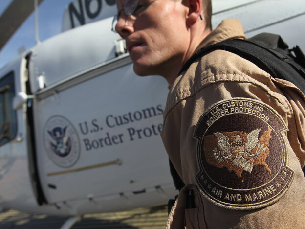Air interdiction agent Jake Linde in 2010, on the U.S.-Mexico border in Arizona.