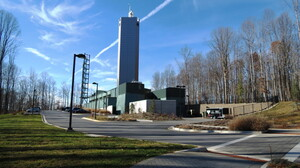 The outside of Babcock & Wilcox's prototype nuclear reactor. Babcock & Wilcox says its nuclear reactor facilities won't have the trademark cooling towers of traditional nuclear reactors.