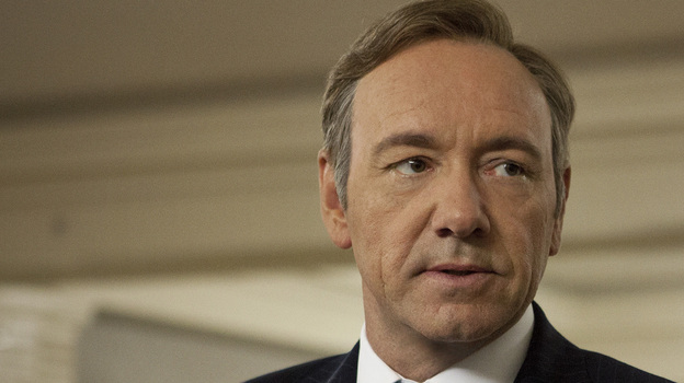 Kevin Spacey is the star and a producer of the new Netflix series House of Cards, on which David Fincher is a co-producer. (Netflix)