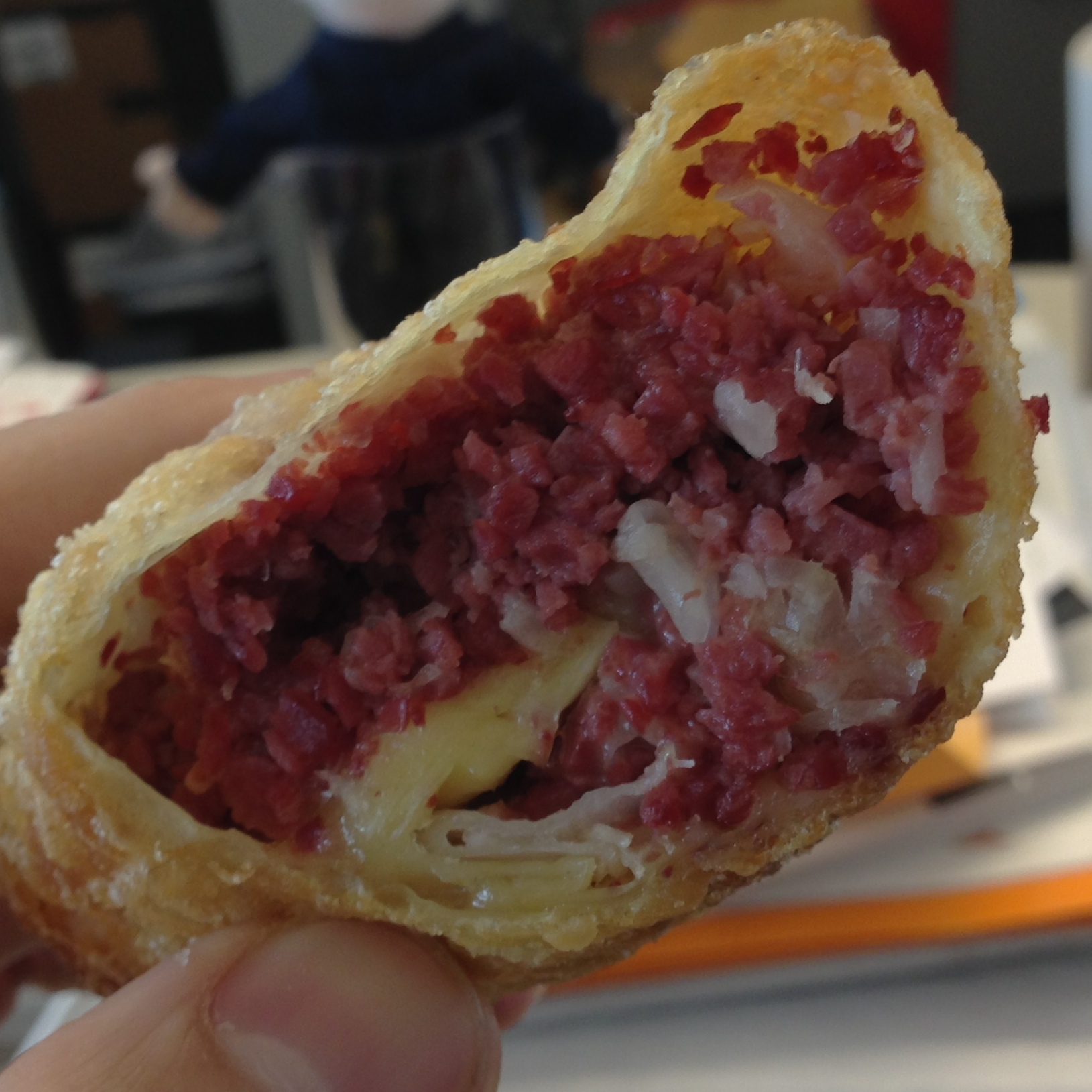 The Reuben Egg Roll