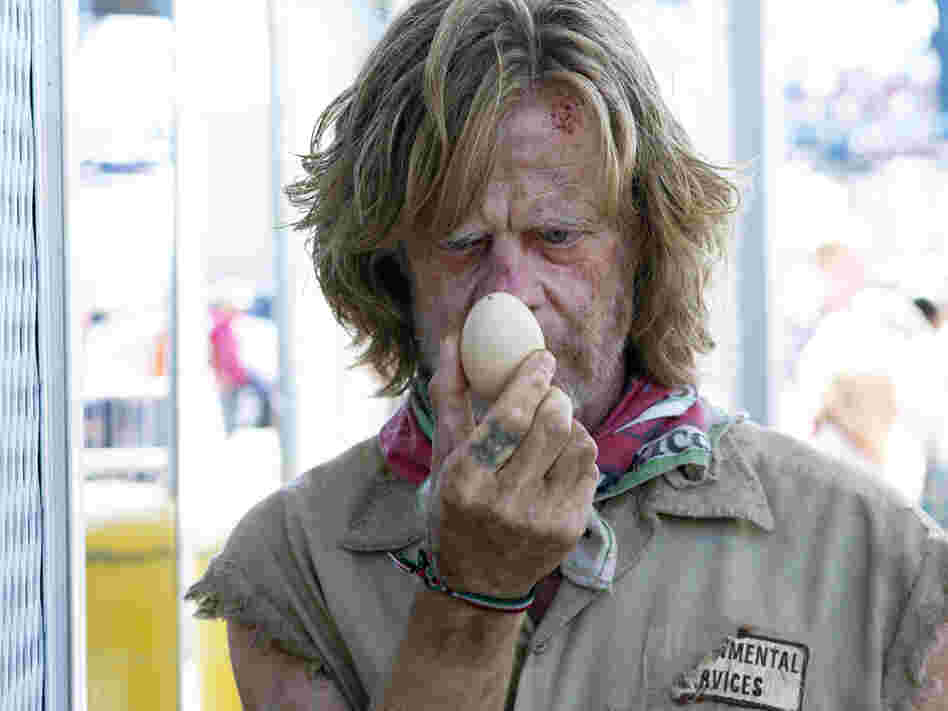 In Shameless, William H. Macy is the dysfunctional father of six.