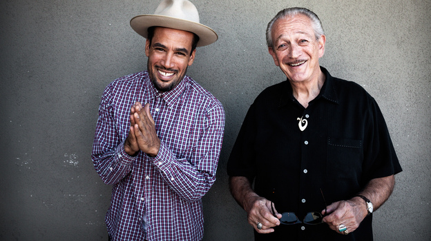 Ben Harper and Charlie Musselwhite's new collaborative album is titled Get Up! (Courtesy of the artist)