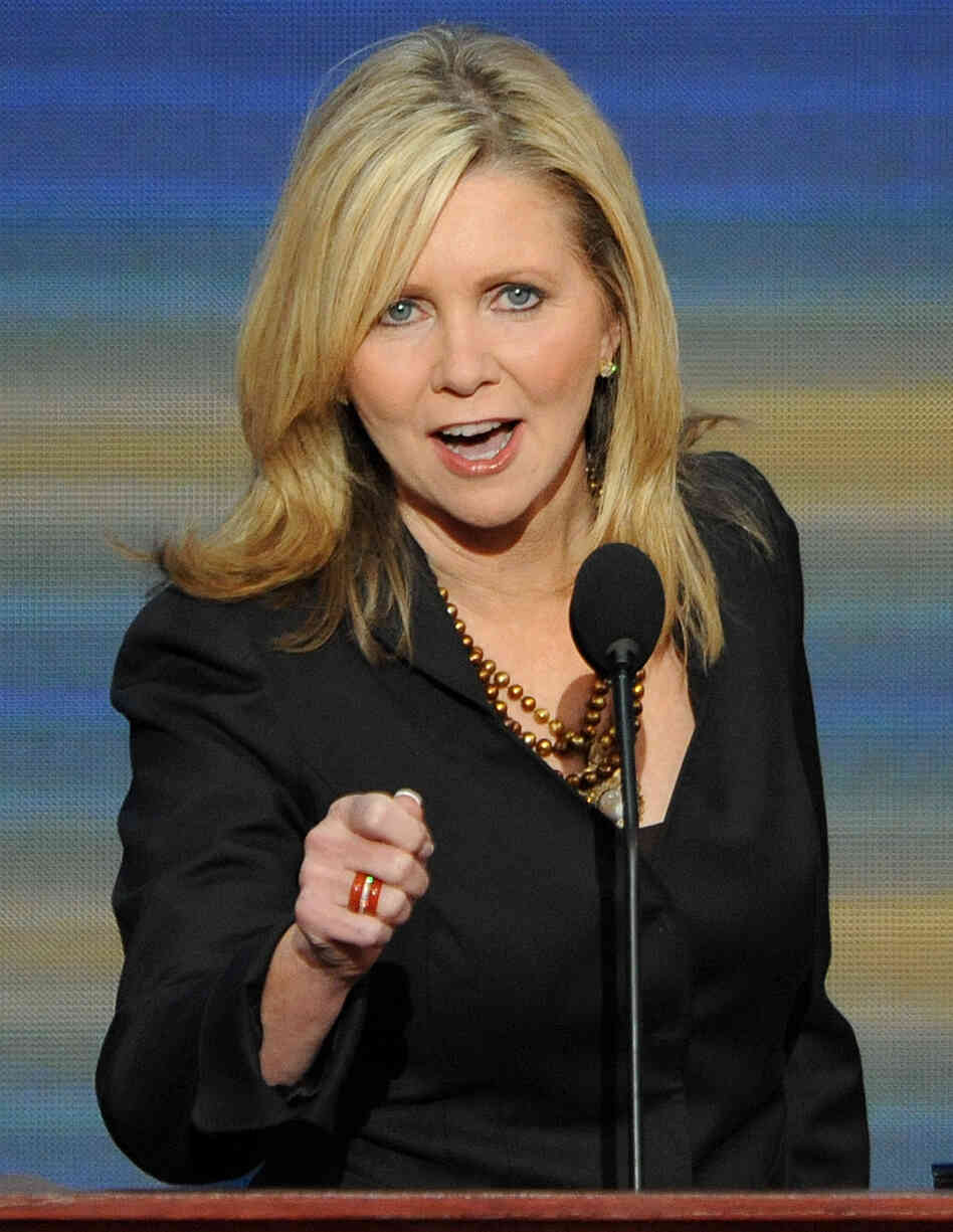 Rep. Marsha Blackburn, R-Tenn., who thinks she's a better shot t
