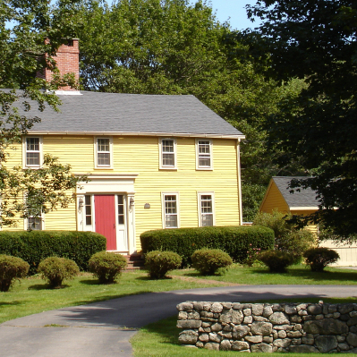 Yellow house in New England