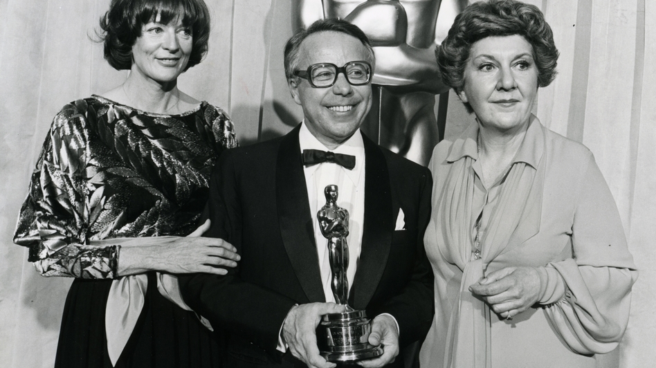 "Kudelski with actors Maggie Smith (left) and Maureen Stapleton at the 1978 Academy Awards. That year, Kudelski won a Scientific and Engineering award for improvements ""in the Nagra 4.2L sound recorder for motion picture production."" It was one of four Oscars awarded Kudelski in his lifetime.  (Courtesy of the Kudelski Group)"