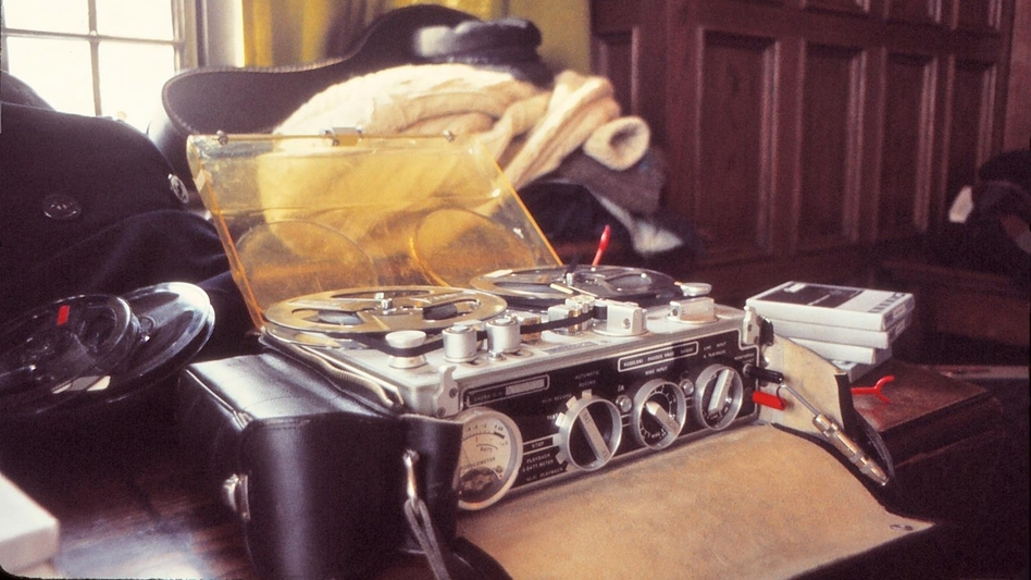A Nagra recorder used to record a 1976 interview at the University of Chicago for the NPR Program 'Folk Festival USA.' (Courtesy of Jim Anderson )