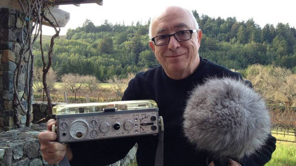 Randy Thom, director of sound design for Skywalker Sound, with his Nagra 4.2. While filmmakers now use smaller and lighter digital recorders, Nagras are still used to record gunshots and other very loud sounds.