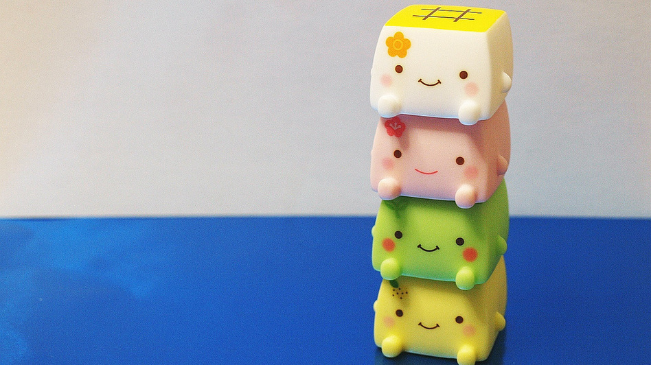 Hannari Tofu is a character who shows up on a range of plush merchandise. (Satorare/Flickr)