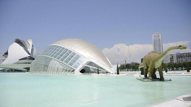 Valencia spent more than $1.5 billion to build the City of Arts and Sciences, the museum complex shown here in a photo from