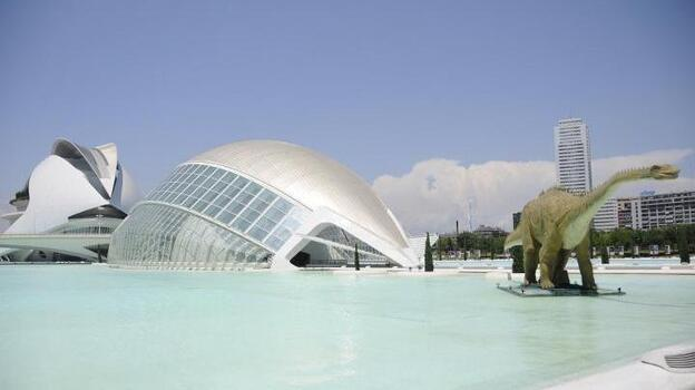 Valencia spent more than $1.5 billion to build the City of Arts and Sciences, the museum complex shown here in a photo from summer 2011. (NPR)