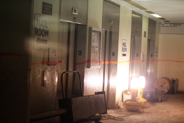 When Superstorm Sandy came ashore, Bellevue Hospital was quickly submerged. Inspectors from the Federal Emergency Management Agency marked the flood line in the basement with orange tape or spray paint. In some areas, water was 14 feet deep.