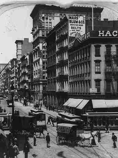 """Each episode of """"The Bowery Boys"""" explores a different aspect of New York City history, like how Canal Street, pictured here in 1899, once channeled water from the now-filled Collect Pond."""