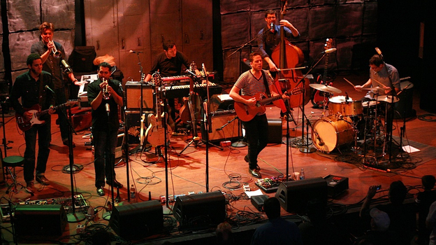 Calexico performed live for <em>World Cafe</em> in December.
