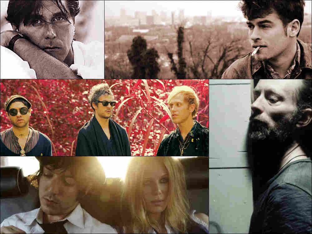 Clockwise from upper left: Bryan Ferry, Night Beds, Thom Yorke of Atoms For Peace, Ex-Cops, Unknown Mortal Orchestra