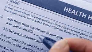 Health insurance form.